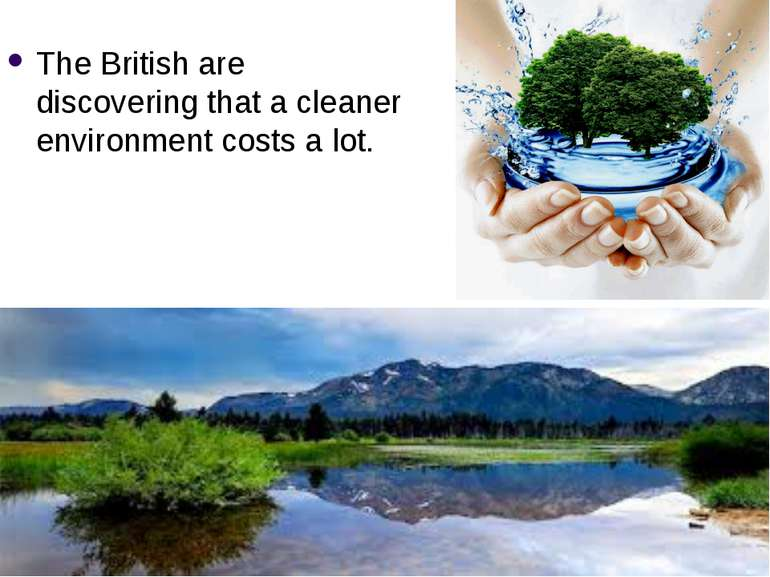 The British are discovering that a cleaner environment costs a lot.