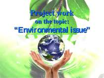 "Project work on the topic: ""Environmental issue"""