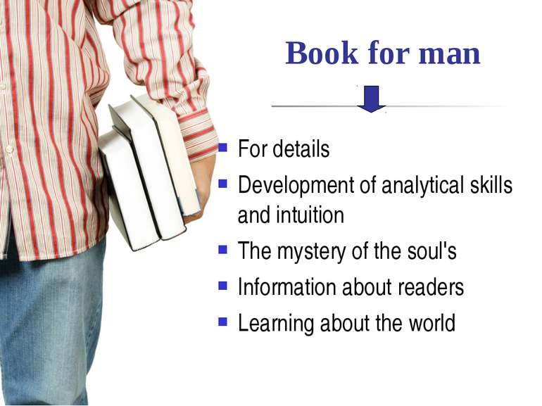 Book for man For details Development of analytical skills and intuition The m...