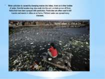 Water pollution is caused by dumping wastes into lakes, rivers and other bodi...