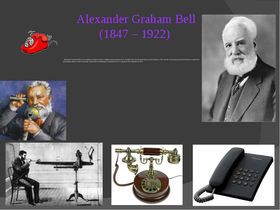 an analysis of the experimental models by alexander graham bell Engage with our community a aa-ak al-am an analysis of the experimental  models by alexander graham bell an-az stratigraphic correlation and isopach  maps of.