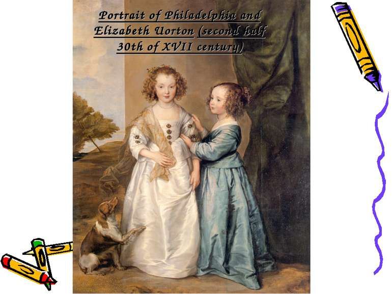 Portrait of Philadelphia and Elizabeth Uorton (second half 30th of XVII century)