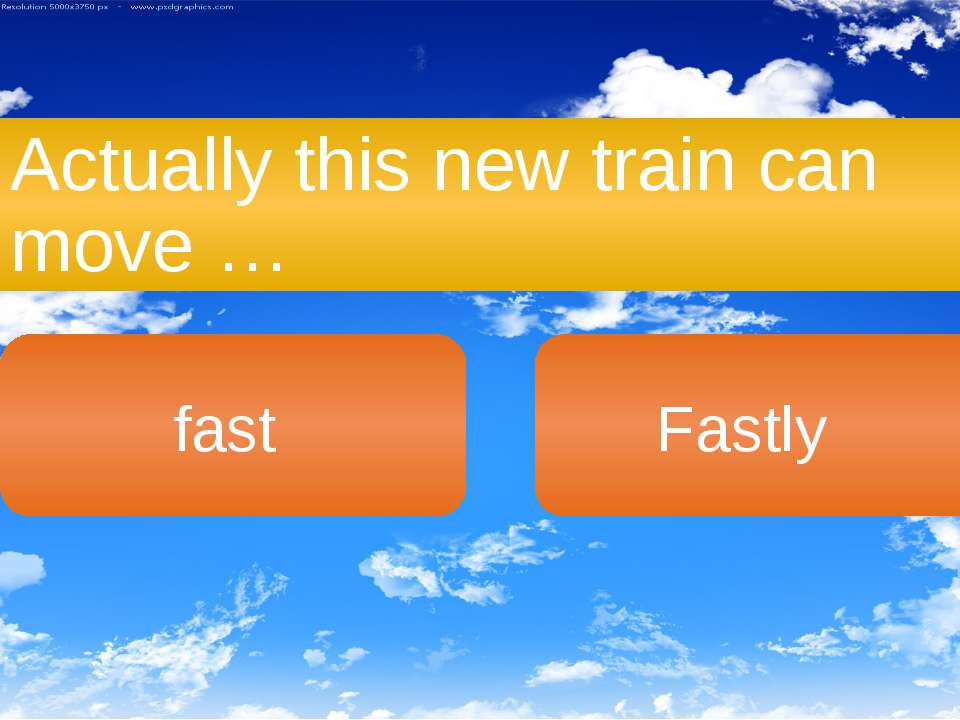 Actually this new train can move … fast Fastly