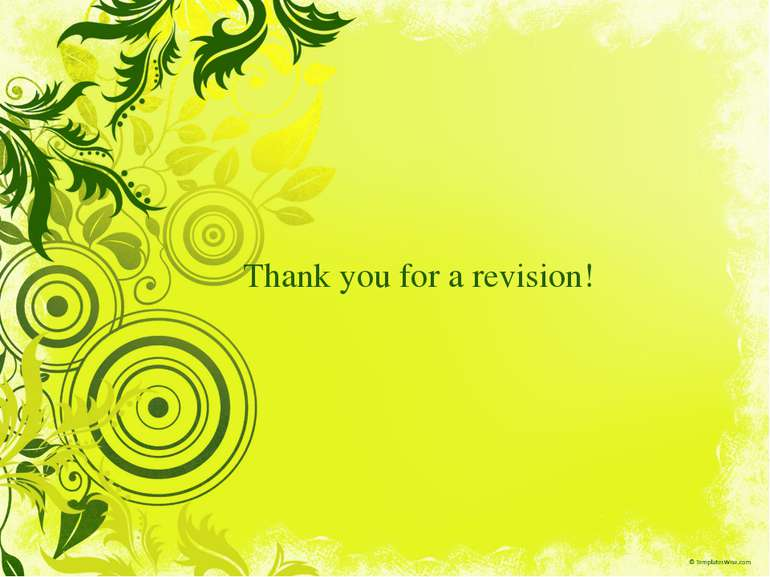 Thank you for a revision!