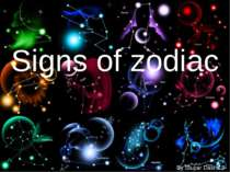 """Signs of zodiac"""
