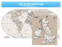 UK on the world map