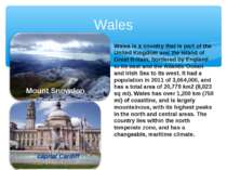 Wales Mount Snowdon capital Cardiff Wales is a country that is part of the Un...