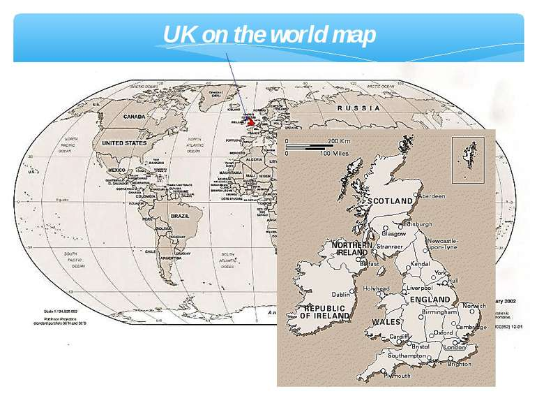 UK on the world map