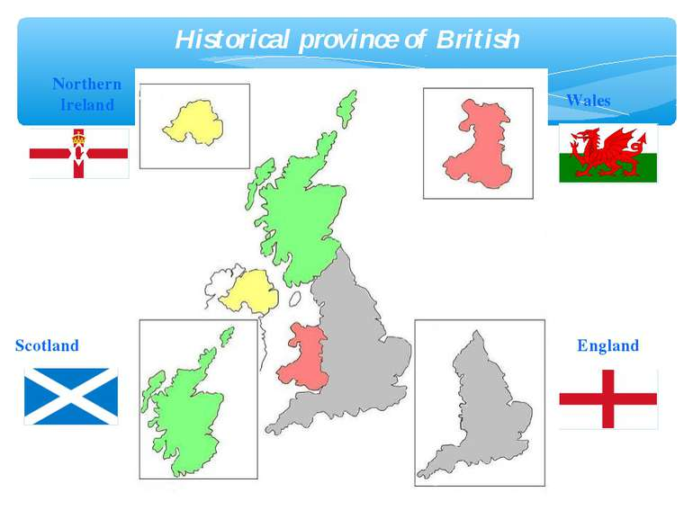England Scotland Wales Northern Ireland Historical province of British