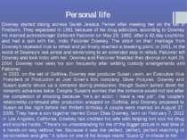 Personal life Downey started dating actress Sarah Jessica Parker after meetin...