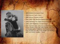1884 Marries Constance Lloyd 1885 His son, Cyril, is born 1886 His son, Vyvya...