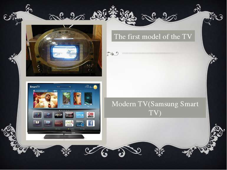 The first model of the TV Modern TV(Samsung Smart TV)
