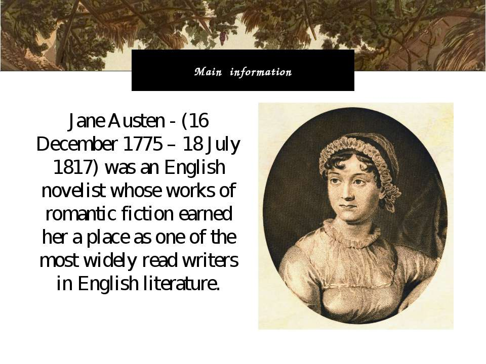 who is jane austen essay The book emma written by jane austen, a widely acclaimed english author, whose novels were published anonymously over the course of the 19-th.
