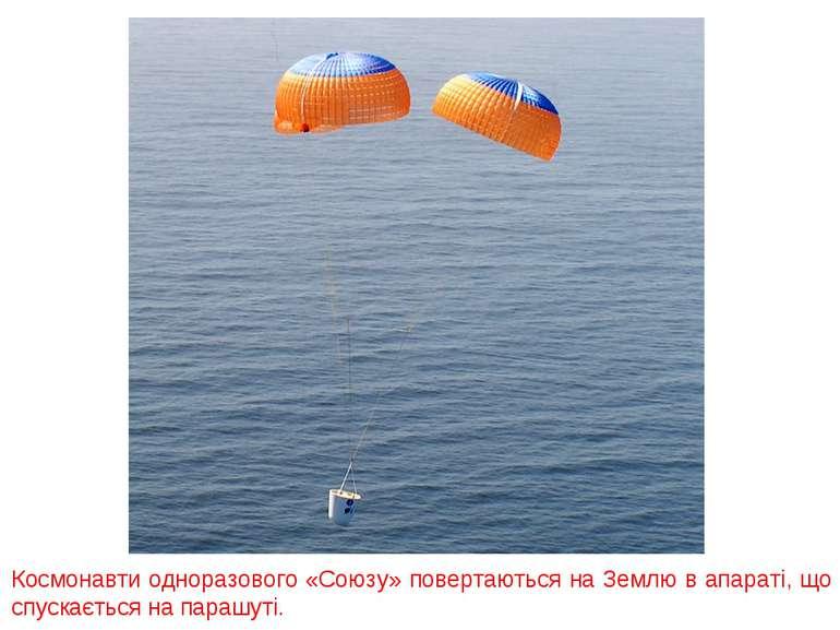 Космонавти одноразового «Союзу» повертаються на Землю в апараті, що спускаєть...