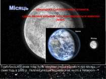— природний супутник нашої планети, єдине велике небесне тіло, що обертається...