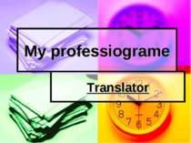 My professiograme Translator