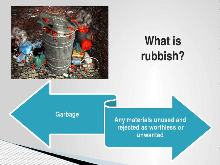 What is rubbish?