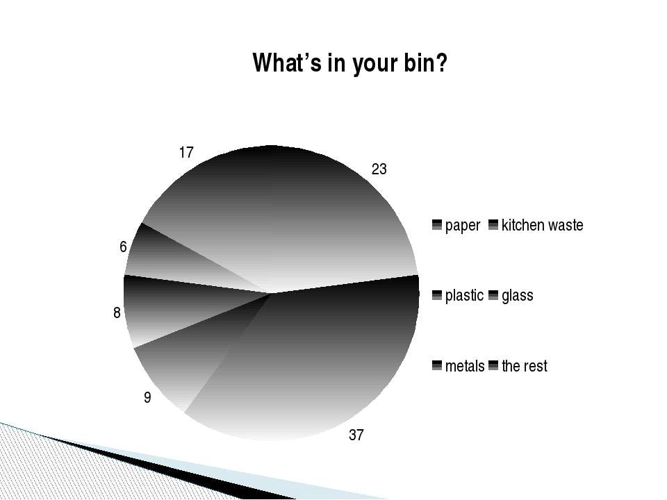 What's in your bin? What's in your bin?
