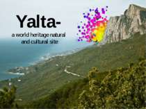Yalta- a world heritage natural and cultural site