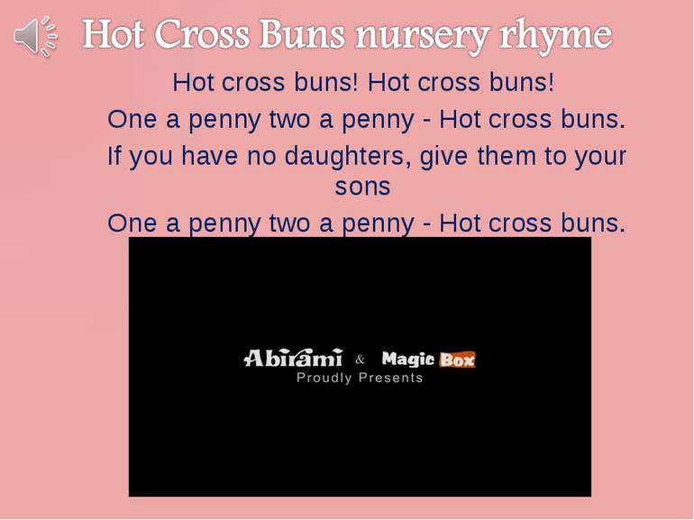 Hot cross buns! Hot cross buns! One a penny two a penny - Hot cross buns. If ...