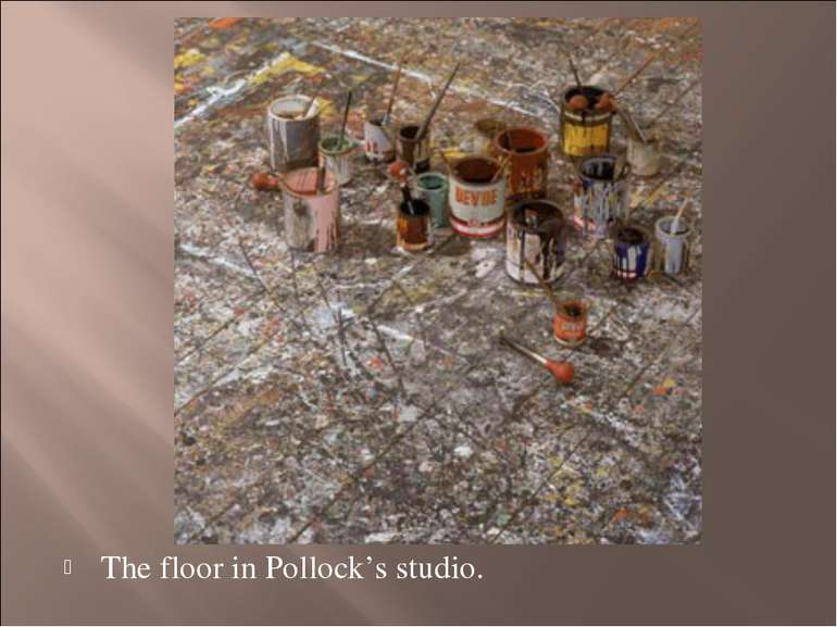 The floor in Pollock's studio.