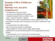 Slide # * hearing threats of physical harm слуховые угрозы физической расправ...