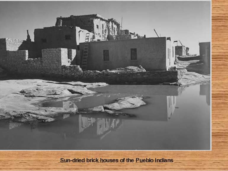 Sun-dried brick houses of the Pueblo Indians