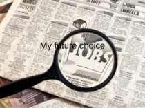 My future choice