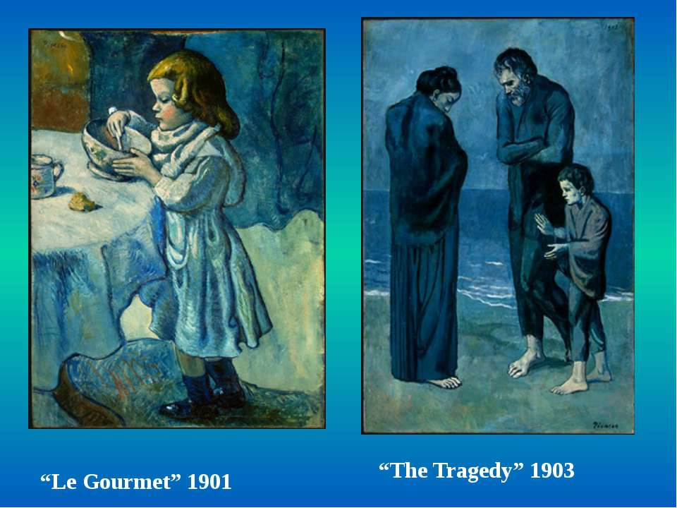 """Le Gourmet"" 1901 ""The Tragedy"" 1903"