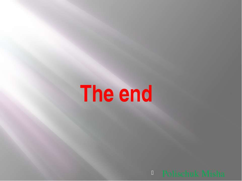 The end Polischuk Misha