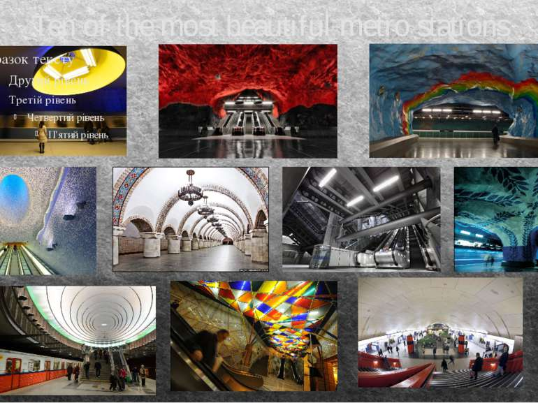 Ten of the most beautiful metro stations