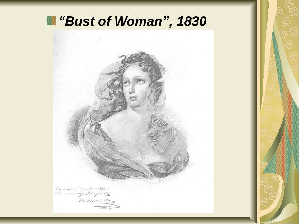 """Bust of Woman"", 1830"