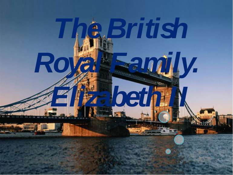 The British Royal Family. Elizabeth II