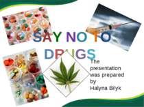 SAY NO TO DRUGS The presentation was prepared by Halyna Bilyk