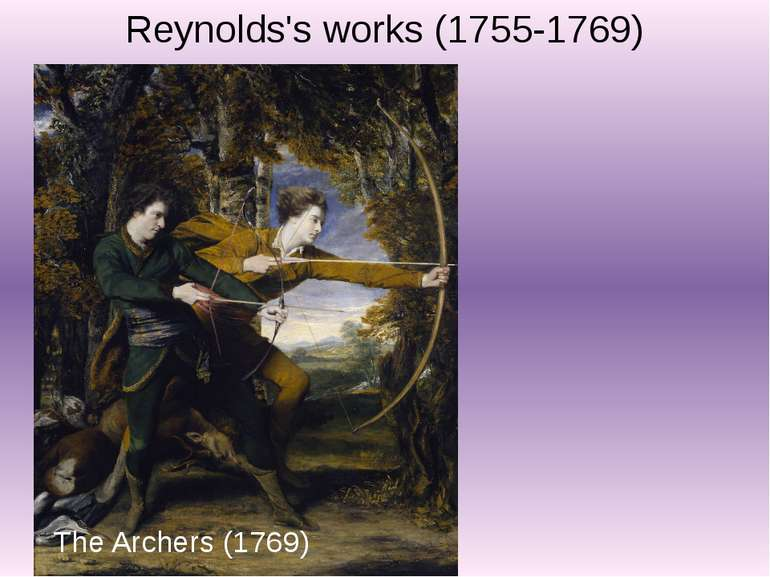 Reynolds's works (1755-1769) The Archers (1769)