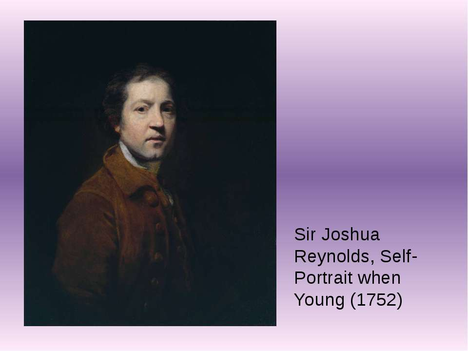 Sir Joshua Reynolds, Self-Portrait when Young (1752)