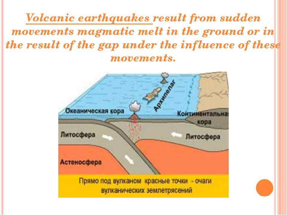 Volcanic earthquakes result from sudden movements magmatic melt in the ground...