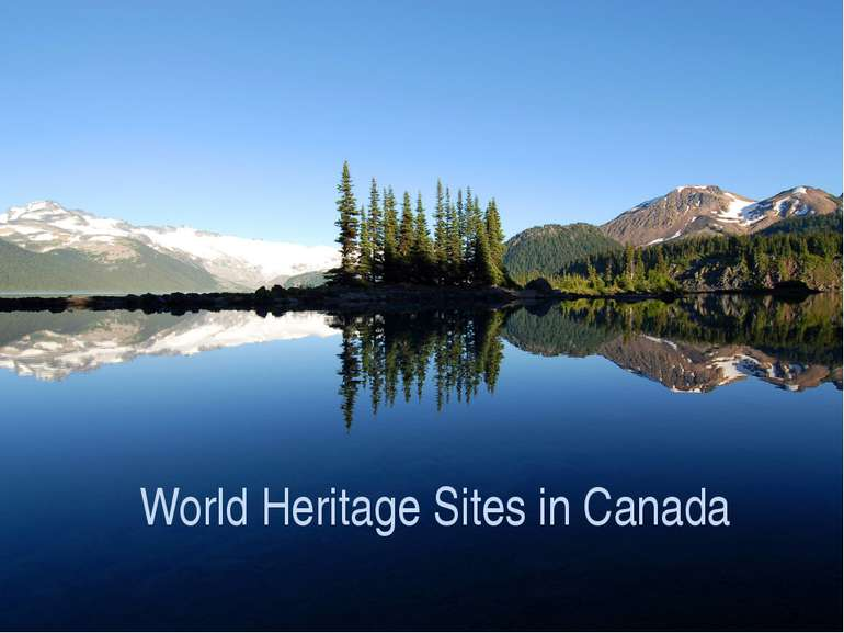 World Heritage Sites in Canada