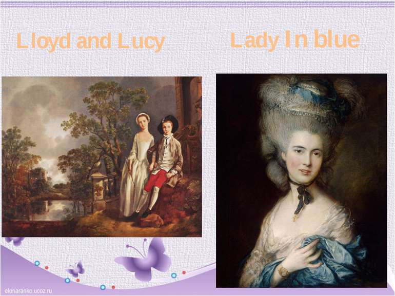 Lloyd and Lucy Lady In blue