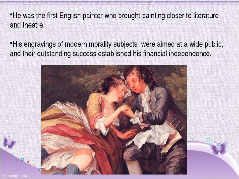 He was the first English painter who brought painting closer to literature an...