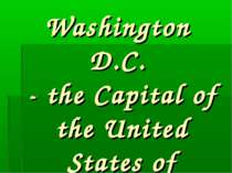 """Washington D.C."""