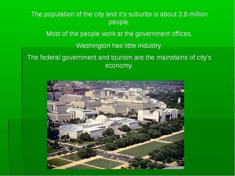 The population of the city and it's suburbs is about 3,8 million people. Most...