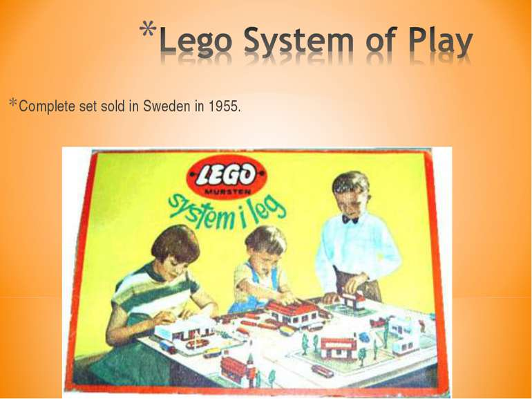 Complete set sold in Sweden in 1955.