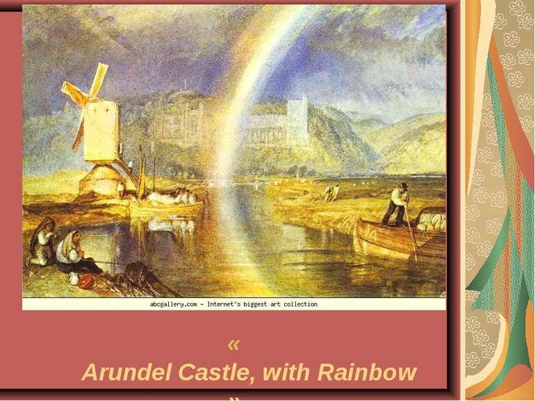 «Arundel Castle, with Rainbow»