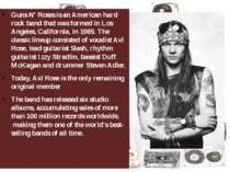 Guns N' Rosesis an Americanhard rockband that was formed in Los Angeles, C...