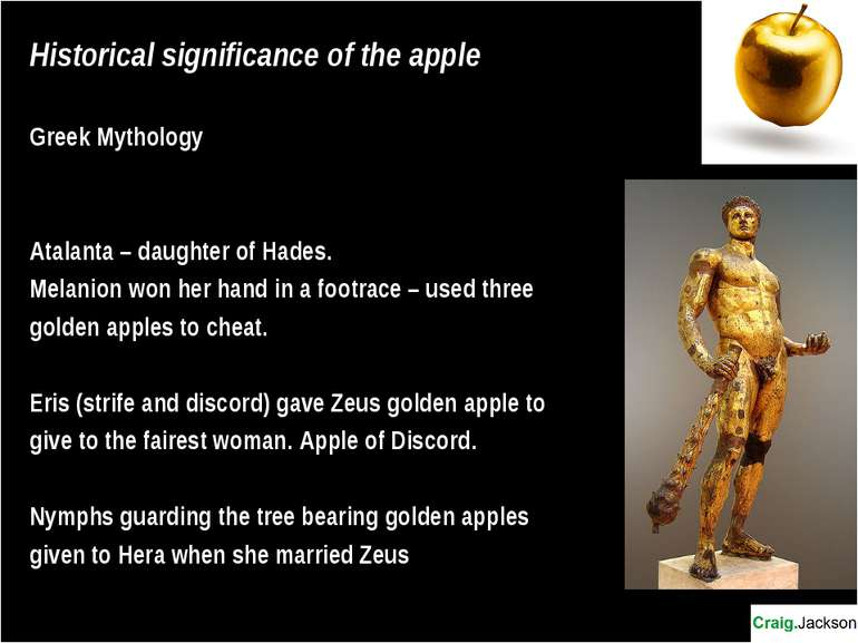 Historical significance of the apple Greek Mythology Atalanta – daughter of H...
