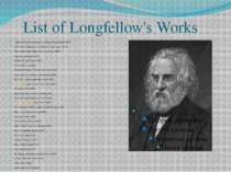 List of Longfellow's Works Coplas de Don Jorge Manrique (Translation from Spa...