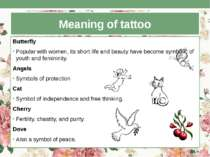 Meaning of tattoo Butterfly Popular with women, its short life and beauty hav...