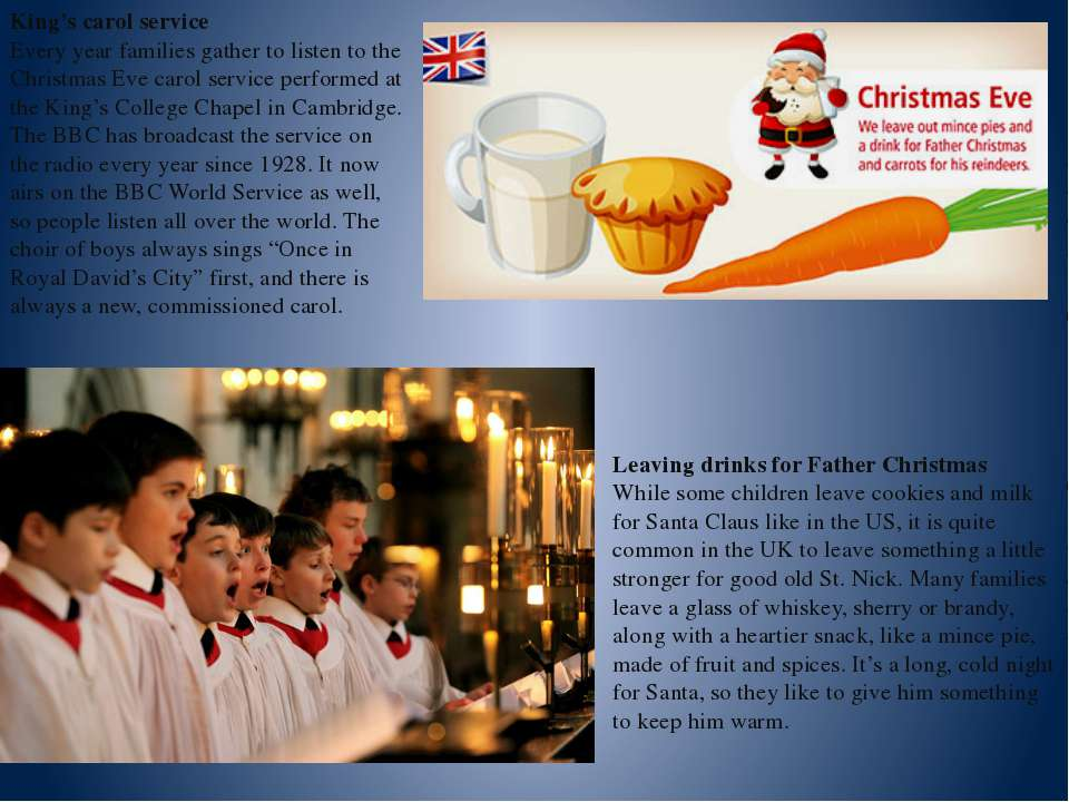 King's carol service Every year families gather to listen to the Christmas Ev...