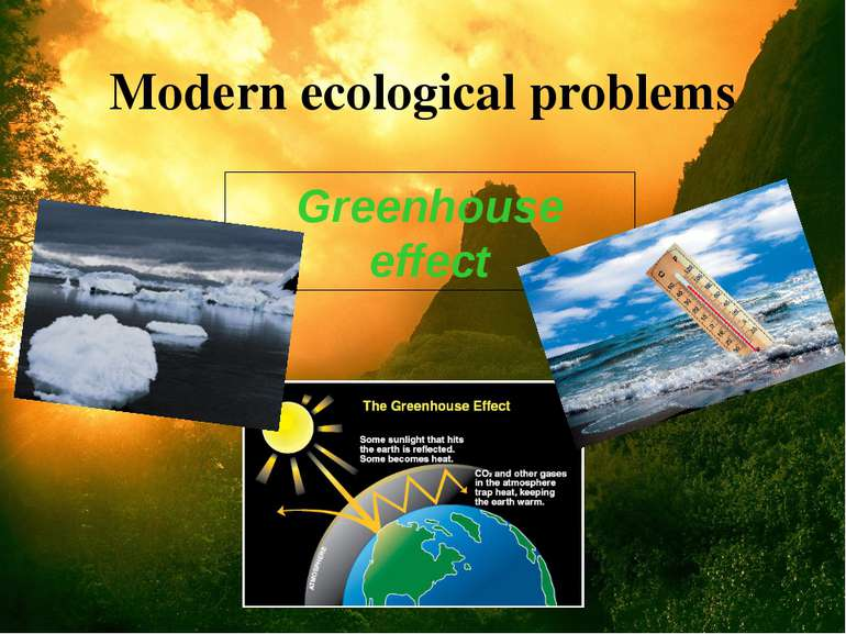 Modern ecological problems Greenhouse effect